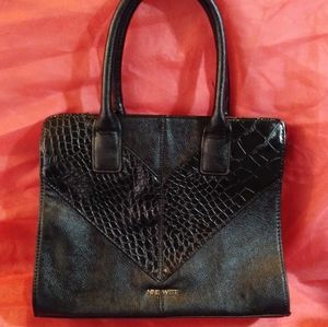 Vintage Leather Nine West Black on Black Purse